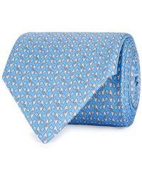 Ferragamo - Kayak-print Silk Twill Tie - Lyst