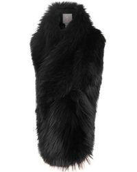 Lilly E Violetta - Arabella Black Fox Fur Scarf - Lyst