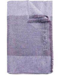 Hackett - Colour Block Merino Wool Scarf - Lyst