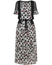 Emporio Armani - Hearts Print Dress - Lyst