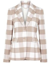 Altuzarra - Fenice Checked Wool-blend Blazer - Lyst