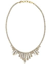Halo - Chandelier Necklace Oxidised Metal And Crystals Give A Vintage Effect - Lyst