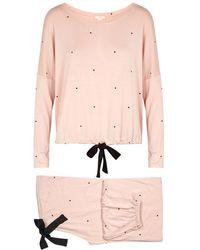 Eberjey - Dots Polka-dot Jersey Pyjama Set - Lyst