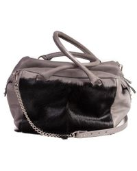 Sherene Melinda - Black And Grey Box Bag With A Fan - Lyst