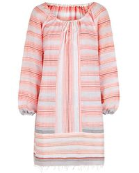 lemlem - Tereza Striped Cotton-blend Kaftan - Lyst