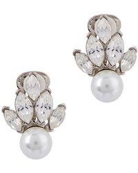 Kenneth Jay Lane - Faux Pearl-embellished Clip-on Earrings - Lyst