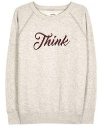 Étoile Isabel Marant - Lilly Embroidered Cotton Blend Sweatshirt - Lyst