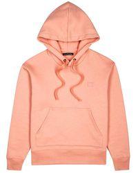 Acne Studios - Ferris Face Blush Cotton Sweatshirt - Lyst