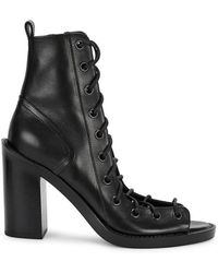 Ann Demeulemeester - Black Lace-up Leather Sandals - Lyst