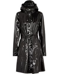 Rains - Glossy Curve Patent Rubberised Raincoat - Lyst