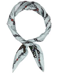 Alexander McQueen - Jewelled Bug Printed Silk Twill Scarf - Lyst