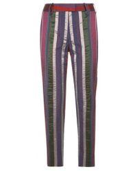 Varana - Striped Silk Trousers - Lyst