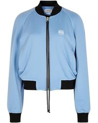 Loewe - Blue And Navy Jersey Bomber Jacket - Lyst