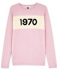 Bella Freud - 1970 Light Pink Wool Jumper - Lyst
