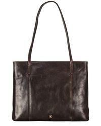 Maxwell Scott Bags - Italian Leather Brown Shopper Tote For Women - Lyst