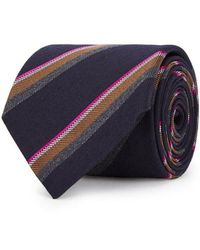 Eton of Sweden - Striped Wool Blend Jacquard Tie - Lyst