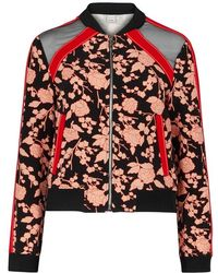 Pinko - Printed Jersey Bomber Jacket - Lyst