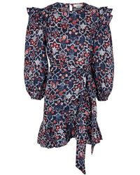 9229281179c Étoile Isabel Marant - Telicia Printed Ruffle-trimmed Linen Dress - Lyst