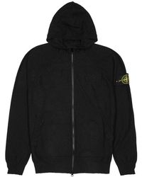 Stone Island - Black Knitted Cotton-blend Jacket - Lyst
