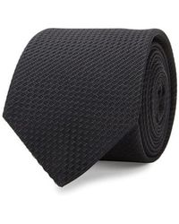 Eton of Sweden - Black Diagonal-tile Silk Jacquard Tie - Lyst