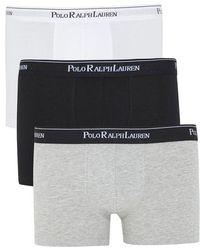 Polo Ralph Lauren - Stretch Cotton Boxer Briefs - Three Pack - Lyst