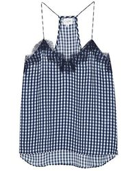 Cami NYC - The Racer Gingham Silk Georgette Top - Lyst