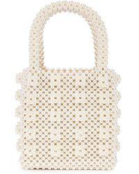 Shrimps Giacomo Faux Fur Tote Bag in White - Lyst 79b5eabe9eaf0