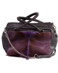 Sherene Melinda - Purple Box Bag With A Fan - Lyst