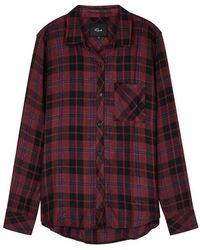 Rails - Hunter Checked Rayon-blend Shirt - Lyst