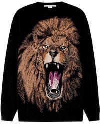 Stella McCartney - Lion-intarsia Wool Jumper - Lyst