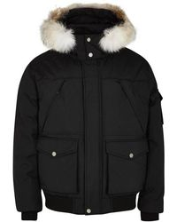 Pajar - Trudeau Black Fur-trimmed Shell Jacket - Lyst