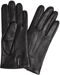 Dents - Bath Black Cashmere-lined Leather Gloves - Lyst