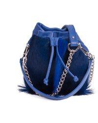 Sherene Melinda - Royal Lou Lou Pouch Bag With A Fan - Lyst