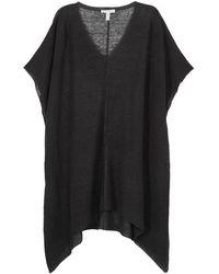 Eileen Fisher - Grey Oversized Fine-knit Poncho - Lyst