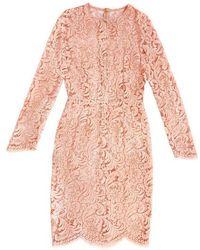 Fréolic London - Grace Iconic Dusty Pink Dress - Lyst