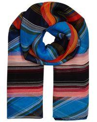 Diane von Furstenberg - Sussex Striped Silk Chiffon Scarf - Lyst