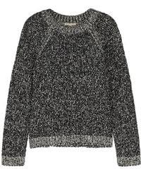 Eileen Fisher - Monochrome Bouclé-knit Jumper - Lyst