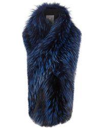 Lilly E Violetta   Arabella Blue Fox Fur Scarf   Lyst