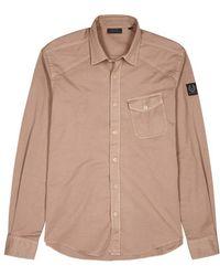 Belstaff - Steadway Taupe Stretch Cotton Shirt - Lyst