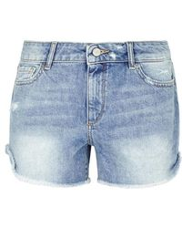 DL1961 - Karlie Distressed Denim Shorts - Lyst