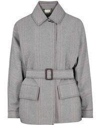 By Malene Birger - Rawil Striped Cotton-blend Jacket - Lyst