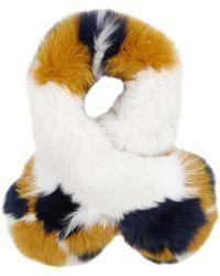Yves Salomon - Colour-block Fur Scarf - Lyst