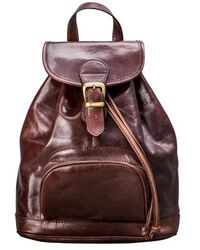 Maxwell Scott Bags - Luxury Handmade Brown Leather Women S Backpack - Lyst