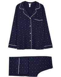 Eberjey - Sleep Chic Printed Jersey Pyjama Set - Lyst