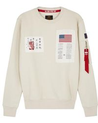 Alpha Industries - Blood Chit Appliquéd Cotton-blend Sweatshirt - Lyst