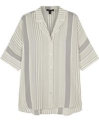 Eileen Fisher - Striped Silk Crepe Shirt - Lyst