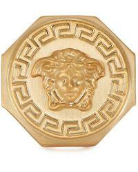 Versace - Gold Tone Medusa Ring - Lyst