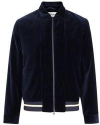 Oliver Spencer - Bailey Navy Velvet Bomber Jacket - Lyst
