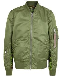 Alpha Industries - Green Reversible Shell Bomber Jacket - Size M - Lyst