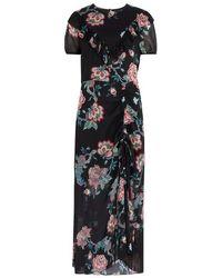 Pinko - Biliardo Floral-print Georgette Dress - Lyst
